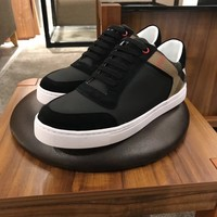 BURBERR  Men Casual Shoes Boots fashionable leather Fashion Casual Sneakers Sport Shoes
