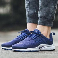 """NIKE"" Women Men Fashion Running Sport Casual Shoes Sneakers Dark blue"