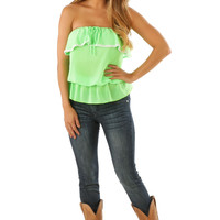 Back To Love Top: Neon Green