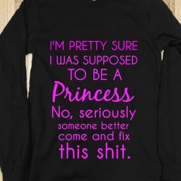 Supermarket: Supposed To Be A Princess Shirt from Glamfoxx Shirts