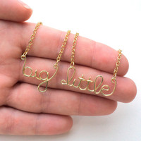 Big and Little Necklaces // Sorority // Sisters // Bid Gift // Gold Silver Copper