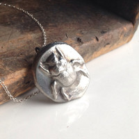 Etsy, Etsy Jewelry, Pewter Pendant Necklace, Scarab Beetle Necklace, Egyptian Inspired Necklace, Sterling Silver Chain