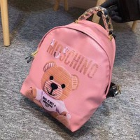 MOSCHINO Casual Shoulder SchoolBag Satchel Handbag Backpack bag Pink