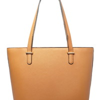 Faux Leather Tote | Forever 21 - 1000204729