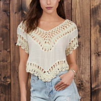 Only Chance Crochet Crop Top
