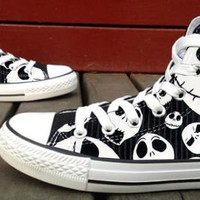 Amazing Luminous Effect The Nightmare Before Christmas  Custom High Top Canvas Shoes for Women,men by HightShoes