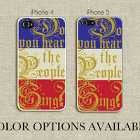 Do You Hear the People Sing Les Miserables iPhone 4 by ThePigLily