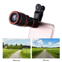 Universal 12X Zoom Mobile Phone Clip-on Telescope Camera Lens for iPhone 6S 6 plus Samsung S7 S6 edge Smartphones