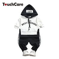 Baby Boy Clothing Set Kids Hooded Sweatshirt Clothes Letter Print Tops Pant Outfit Boys Tracksuit Children T-shirt Sports Suit