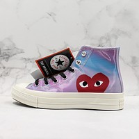 CDG Play x Converse Chuck Taylor All Star 1970s High Top Sneakers