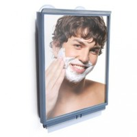 Fogless Shower Mirror with Squeegee by ToiletTree Products. Guaranteed to NEVER fog or your money back! Perfect for Home, Travel, and College Dorms!