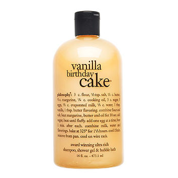 Vanilla Birthday Cake Shampoo, Shower Gel & Bubble Bath - philosophy | Sephora