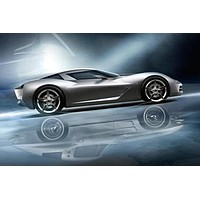 Corvette Stingray Concept Poster Standup 4inx6in