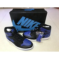 Air Jordan 1 Retro Black/blue 555088-008
