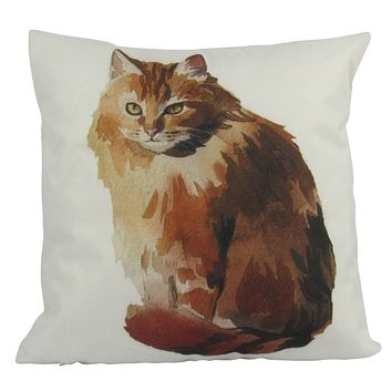 Cat |  Sitting | Cat Pillow | Cute Cat | Cat Gifts | Cat Decor | Cat Photo | Gifts for Cat Lovers | Accent pillow | Throw Pillow Covers