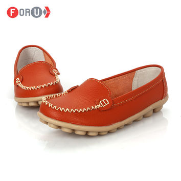 Shoes Woman 2016 Genuine Leather Women Shoes Flats 8 Colors Loafers Slip On Women's Flat Shoes Moccasins Plus Size