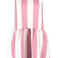 Kelly Scuba Drop Hem Stripe Shift Dress | Boohoo