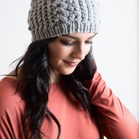 Cap It Off Grey Knit Hat