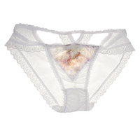 Claire Cross Back Luxe Panty in White Flora ✨SOLD OUT✨