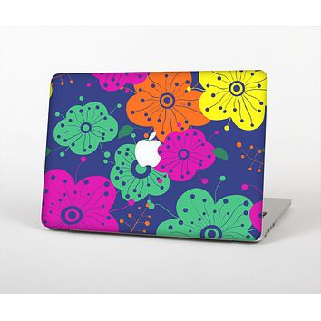 The Bright Colored Cartoon Flowers Skin for the Apple MacBook Pro Retina 15""