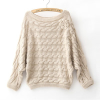 Twisted Knit Sweater for Women