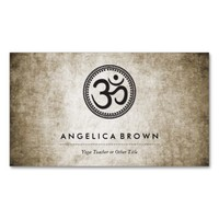 Vintage Om Symbol Business Card Pack Of Standard Business Cards
