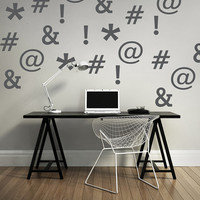 Wall Decal Symbols Dorm Decor Hashtag Ampersand Asterisk Explanation Point