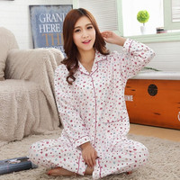 Fashion Spring and Autumn Female Print Pajamas Set Women Sleepwear = 1782943876