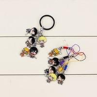 Cool Attack on Titan 2 Styles Hot Japanese Anime  Figures Toys dolls Keychain Metal Keyring pendant For Kids Gifts AT_90_11