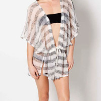 Rusty Paradiso Coverup Black  In Sizes