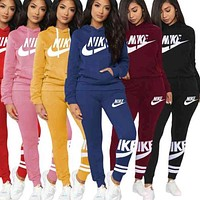 NIKE Letter printing sports stitching casual fashion suit women