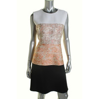Narciso Rodriguez Womens Textured Colorblock Wear to Work Dress