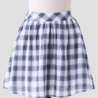 West Campus Plaid Skirt In Gray