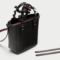 MINI TOTE BAG WITH INTERCHANGEABLE HANDLES DETAILS
