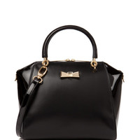 Small crystal bow tote - Black | Bags | Ted Baker UK