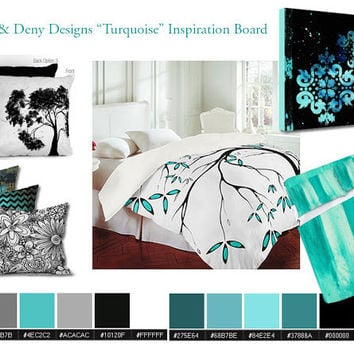 Original Artwork by MADART: New MADART and Deny Designs Home Decor Turquoise Themed Inspiration Board