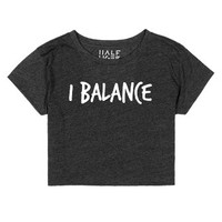 I BALANCE | White-Female Heather Onyx T-Shirt