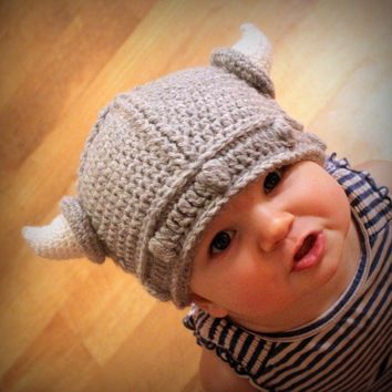 Lael Viking Hat PDF Crochet Pattern Sizes Newborn to by Mamachee