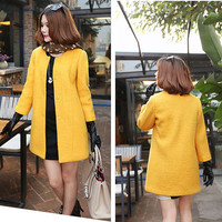 yellow black women's Princess style cape dress by colorstore2011