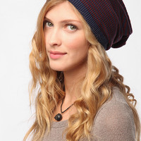 Slouchy Striped Beanie Hat
