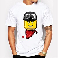 Summer Cartoon printing T Shirt Men's O-neck Tops