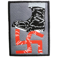"""Anti Racism Nazi F Off Fascism Sew On Embroidered Patch 3""""/7.6cm"""