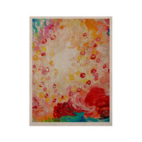 """Ebi Emporium """"Summer Days"""" Red Tan KESS Naturals Canvas (Frame not Included)"""
