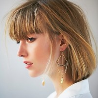 Free People Womens Crossbow Dangle Earrings