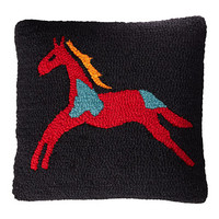 Pendleton Celebrate The Horse Hooked Wool Pillow