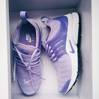 Nike Air Presto Trendy Lavender Women's Individual Sports Running Shoes F