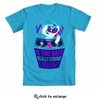 My Little Pony Is This Bass Really Strong Enough? Adult Turquoise Blue T-Shirt - My Little Pony - Free Shipping on orders over $60   TV Store Online