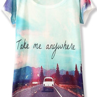 Take Me Anywhere Print GraphicTee