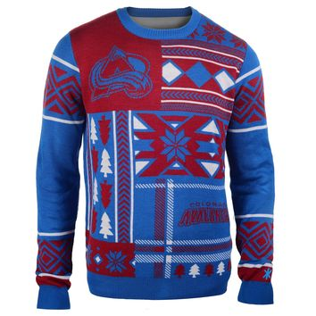 Colorado Avalanche NHL 2015 Patches Ugly Crewneck Holiday Sweater
