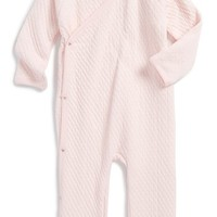 Infant Girl's Burt's Bees Baby Organic Cotton Quilted Kimono Romper,